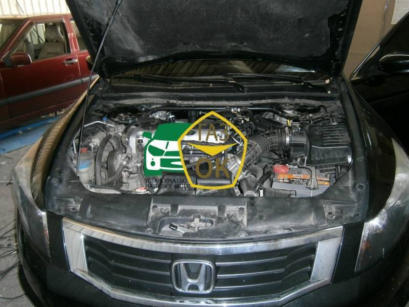 Installation of gas equipment on Honda Accord 2.4 : Gaz-Ok