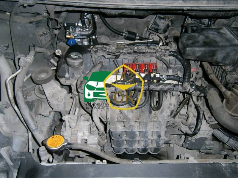 Installation of gas equipment on Mitsubishi Colt : Gaz-Ok