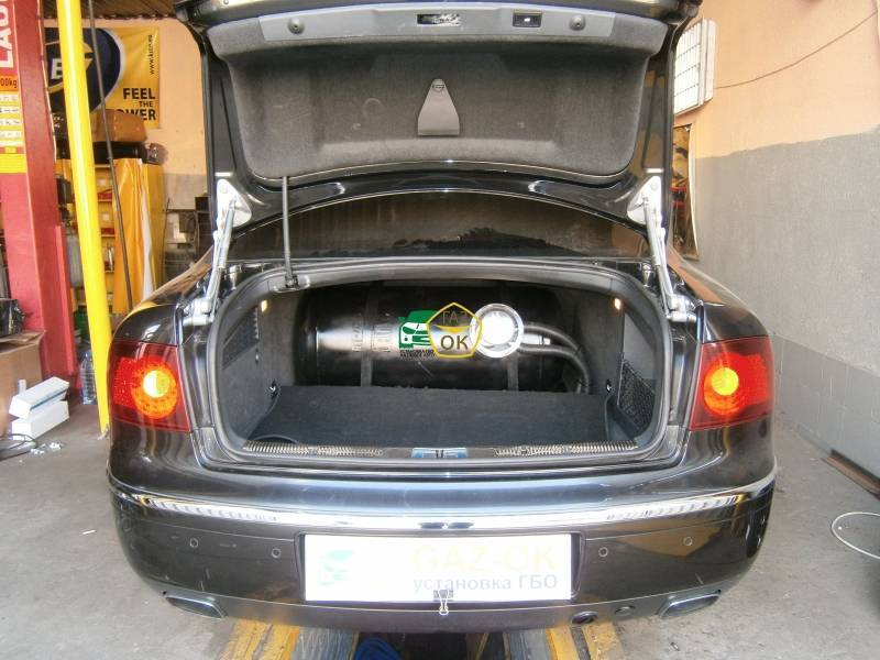 Installation of gas equipment on Volkswagen  Phaeton 4.2: Gaz-Ok