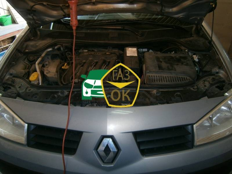 GGBO car installation Renault Megane gas car Gaz Ok Gas OK Kiev