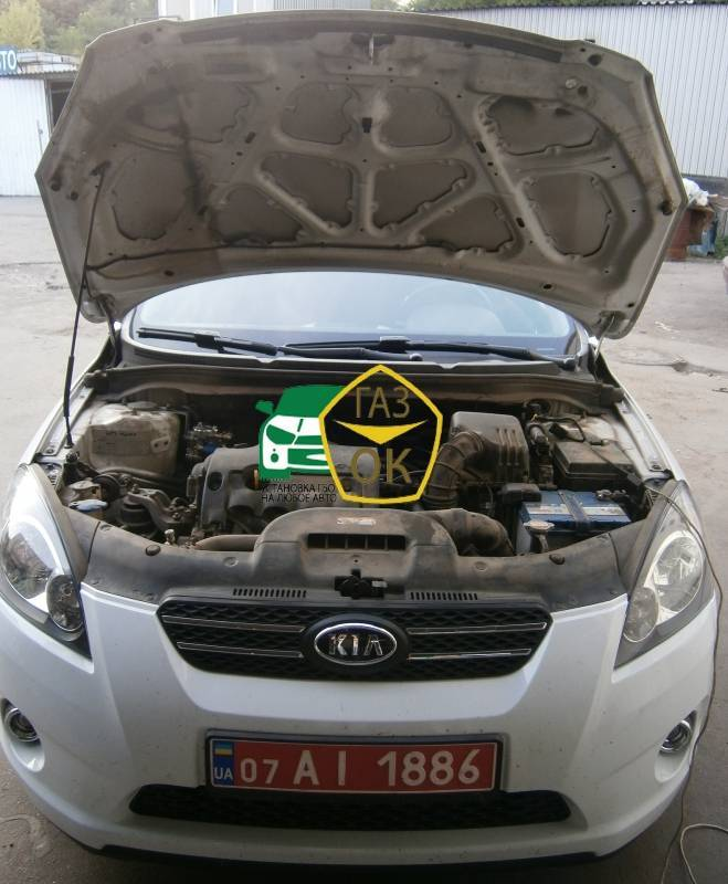 Installing GBO on the car Kia Ceed Pro gas to the car Gaz Ok Gas OK Kiev