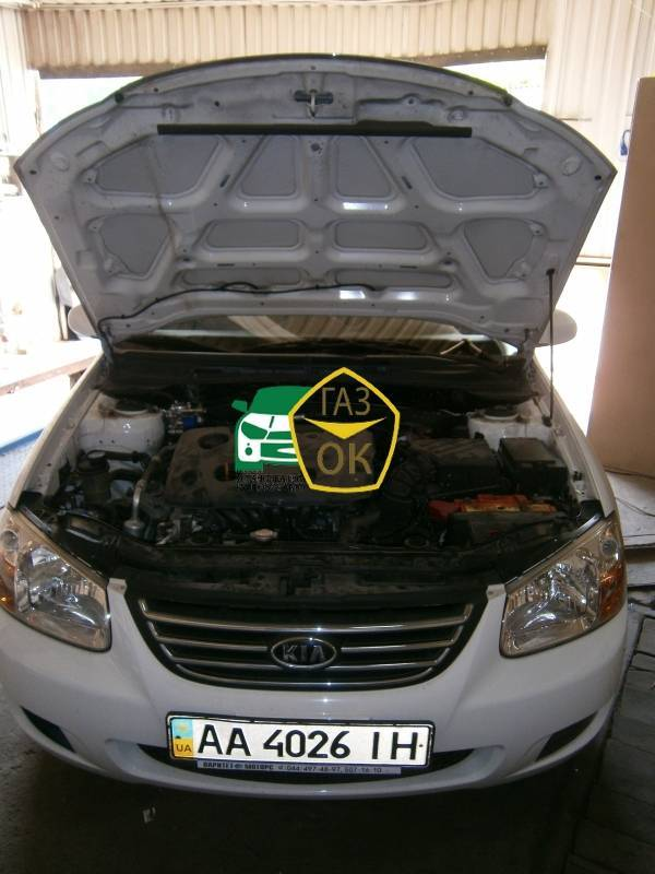 Installation of gas equipment on Kia Cerato 1.6 : Gaz-Ok