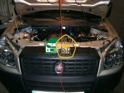 Installation of gas equipment on Fiat Doblo : Gaz-Ok