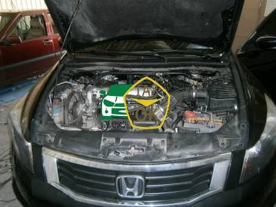 400 Installation of GBO on the car Honda Accord 2.4 gas to the machine Gaz Ok Gas OK Kiev