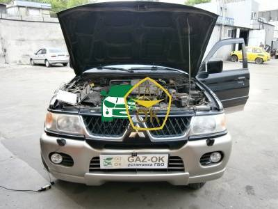 Installing GBO on the car MITSUBISHI Pajero Sport gas to the car Gaz Ok Gas OK Kiev