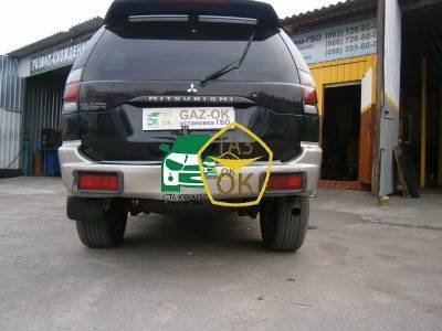 Installation of gas equipment on Mitsubishi Pajero Sport : Gaz-Ok