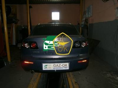 Installation of gas equipment on Mazda 3 : Gaz-Ok
