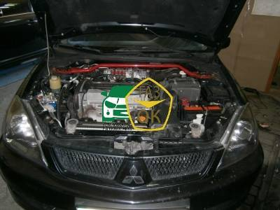 Installation of gas equipment on Mitsubishi Lancer 2.0 : Gaz-Ok