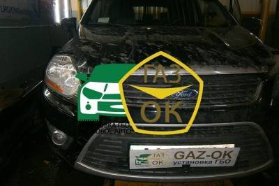 The installation of GBO on the car Ford Kuga 2.5 Turbo gas to the car Gaz Ok Gas OK Kiev