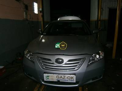 Installation of gas equipment onToyota Camry 2.4: Gaz-Ok
