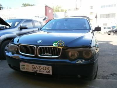 GBO installation on the car BMW e65 745 li gas for the car Gaz Ok Gas OK Kiev