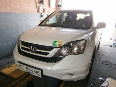 The installation of GBO on the car Honda CR-V 2.4 2013 year gas to the car Gaz Ok Gas OK Kiev