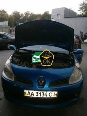 Installing GBO on the car Renault Clio gas to the car Gaz Ok Gas OK Kiev