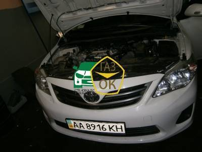 Installation of gas equipment on Toyota Corolla 1.6 : Gaz-Ok