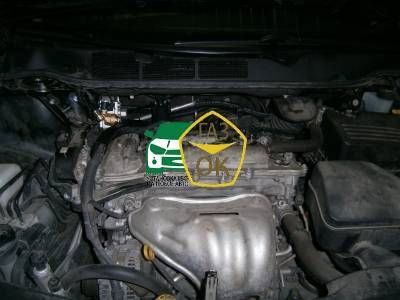 Installation of gas equipment on Toyota Venza 2.7 : Gaz-Ok