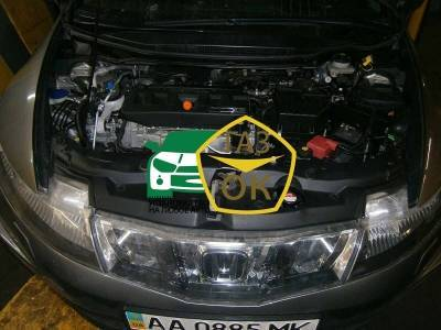 The installation of GBO on the car Honda Civic 5 dv. hatchback 2008 gas to the car Gaz Ok Gas OK Kiev