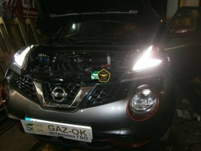 Installing the GBO on the car Nissan Juke 1.6 2014g.v gas to the car Gaz Ok Gas OK Kiev
