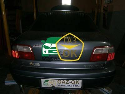 Installation of gas equipment on Opel Omega B 2.6 V6 : Gaz-Ok