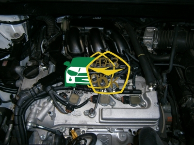 Installation of gas equipment on Toyota Highlander 3.5 : Gaz-Ok
