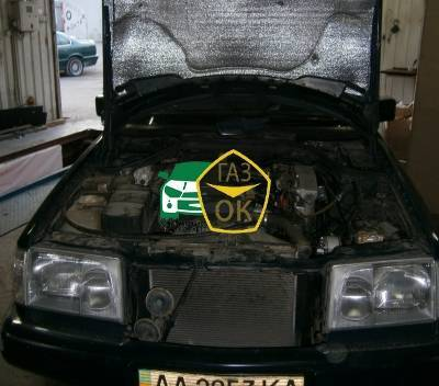 Installation of gas equipment on Mercedes W124 : Gaz-Ok
