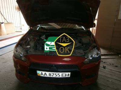 Installation of gas equipment on Mitsubishi Lancer X : Gaz-Ok