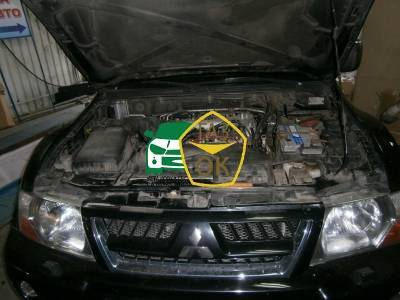 Installation of gas equipment on Mitsubishi Pajero : Gaz-Ok