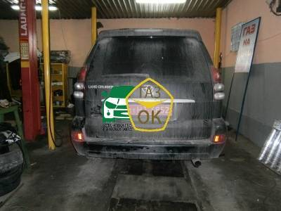 Installation of gas equipment on Toyota Land Cruiser  Prado : Gaz-Ok